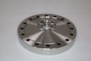 modified FC100 flange - component manufactured by Argon Services