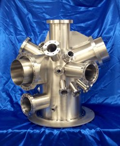 mu-metal analysis chamber with port shielding - manufactured by Argon Services