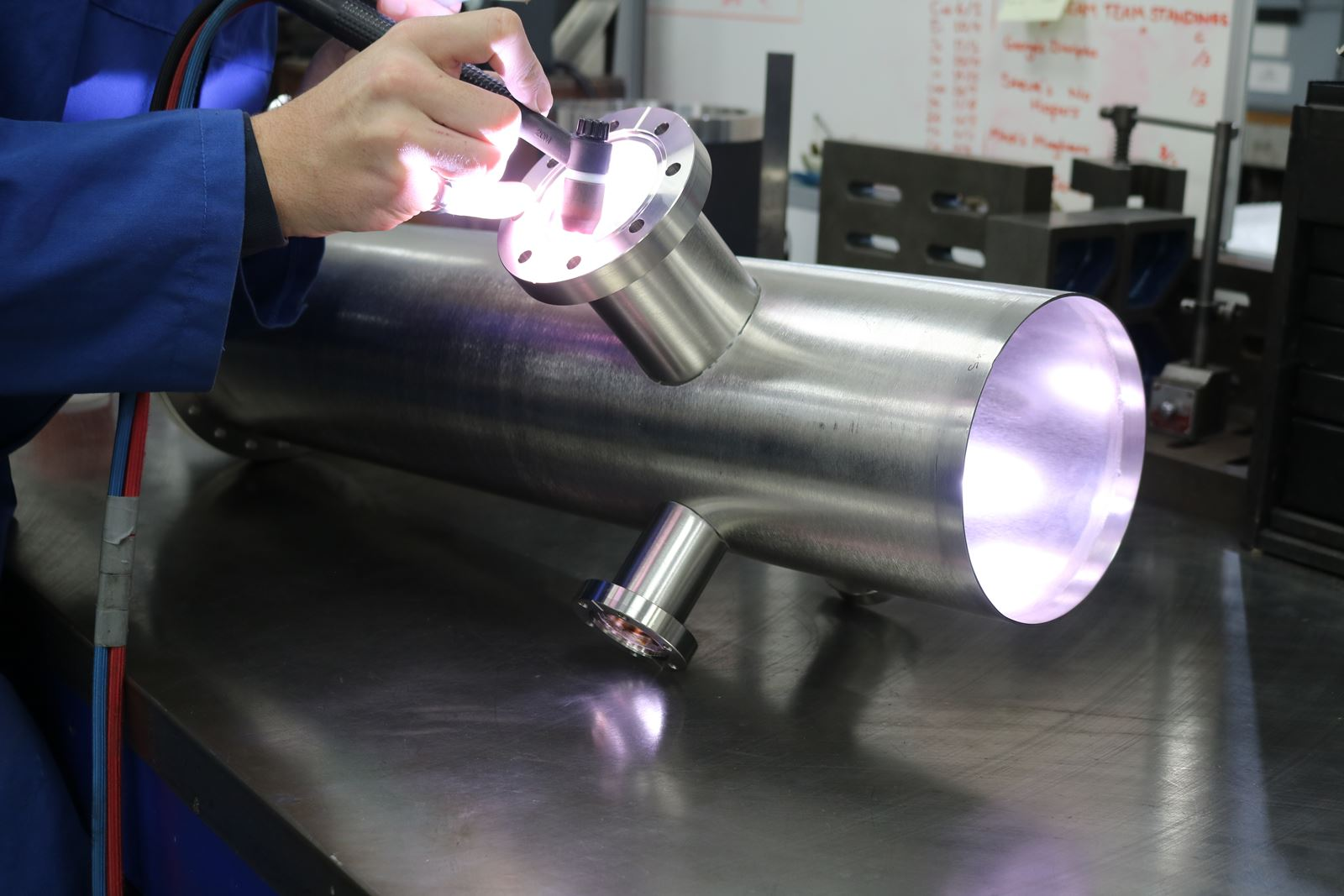 uhv welding of mu-metal flight tube